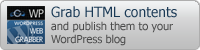 Grab HTML contents and publish them your WordPress blog