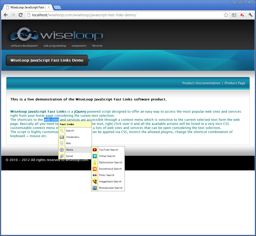 WiseLoop Fast Links Media plugins: Youtube, Vimeo, Dailymotion, Soundcloud, Flockr, Imageshack, Photobucket.