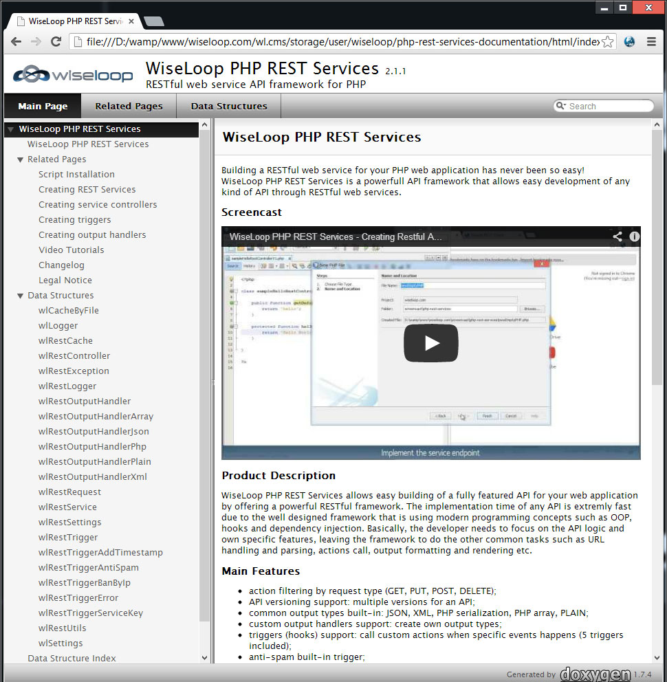 Complete REST services documentation, examples and video tutorials